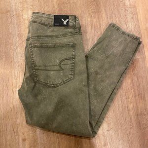 American Eaggle Jegging Crop Olive Army Green